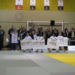 Des jeunes judokas du club portent les noms des clubs qui ont déjà gagné la Coupe Gadbois