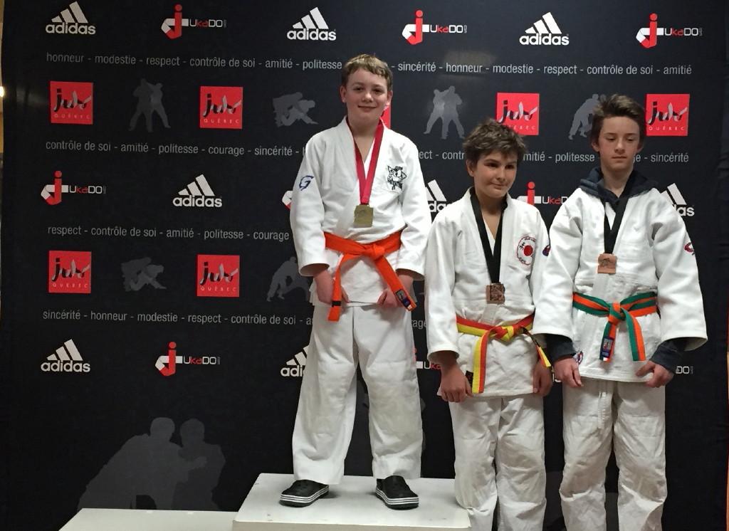 Léo médaille d'or dans les U14!